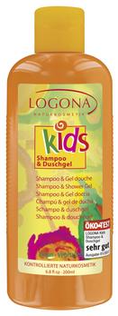 LOGONA Kids Shampoo & Duschgel 200ml MHD 28.02.2021