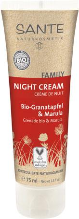 SANTE Family Night Cream Granatapfel & Marula 75ml MHD 30.04.2021