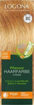 LOGONA Pflanzen-Haarfarbe Creme 200 kupferblond 150ml MHD 31.07.2020