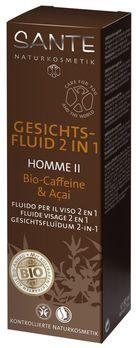 SANTE Homme 2 Gesichtsfluid 2in1 Bio-Caffeine & Açai 50ml MHD 31.05.2021