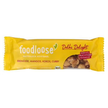 foodloose Delhi Delight Nussriegel 35g MHD 15.06.2020