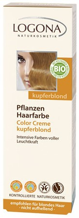 LOGONA Pflanzenhaarfarbe Color Creme Kupferblond 150ml/A MHD 29.02.2020