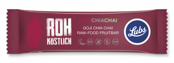 Lubs Rohkost Fruchtriegel Goji Chia Chai 47g MHD 20.06.2021