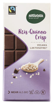 Naturata Spécial Reis Quinoa Crisp Schokolade 100g MHD 08.08.2020